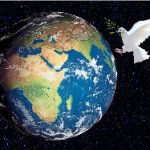 Dove with peace to the earth