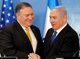 "Pompeo says : ""deeply concerned about Iran's dangerous escalation of threats to Israel & the region, & Iran's ambition to dominate the Middle East,  'fix it' or let it die"