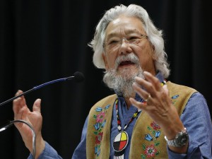 Dr. David Suzuki speaks at a Special Chiefs Assembly / Conference on Climate Change and the Environment in Winnipeg, Tuesday, November 29, 2016. Some Manitoba chiefs took part in a ceremonial signing of The Treaty Alliance Against Tar Sands Expansion. THE CANADIAN PRESS/John Woods ORG XMIT: JGW102