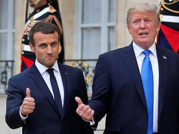 trump-macron-paris