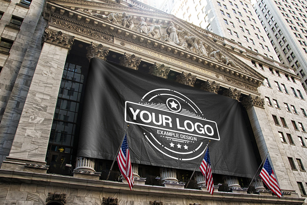 1524235356916-realistic-logo-banner-flag-on-NYSE-pillars-new-york-stock-exchange-flag-free-mockup-generator-psd-template-2-