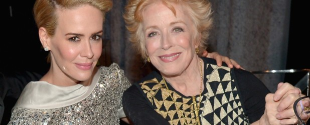 "Sarah Paulson Doesn't Care What Haters Think of Her 32-Year Age Gap With Holland Taylor , ""If someone wants to spend any time thinking I'm strange for loving the most spectacular person on the planet, then that's their problem,"" she told the magazine. ""I'm doing just fine."""