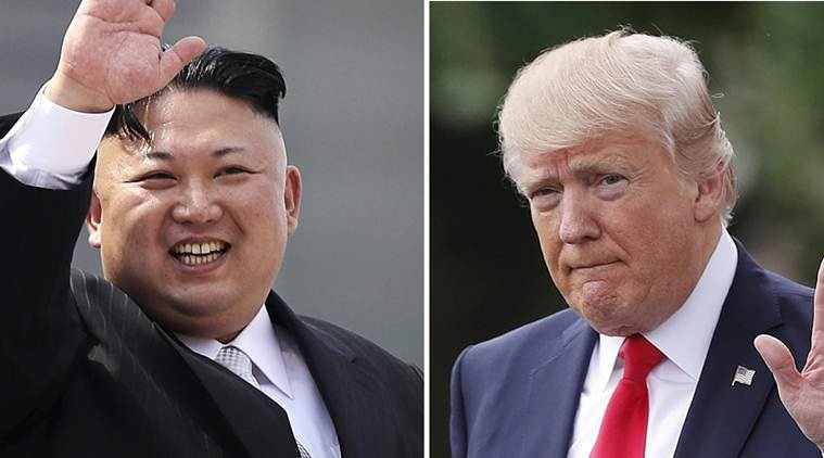 "FILE - This combination of photos show North Korean leader Kim Jong Un on April 15, 2017, in Pyongyang, North Korea, left, and U.S. President Donald Trump in Washington on April 29, 2017. Threatening language between the U.S. and North Korea is flaring. After Trump vowed to respond with ""fire and fury"" if Pyongyang continued to threaten the U.S., the North's military said it is finalizing a plan to fire four midrange missiles to hit waters near the strategic U.S. territory of Guam. (AP Photo/Wong Maye-E, Pablo Martinez Monsivais, Files)"