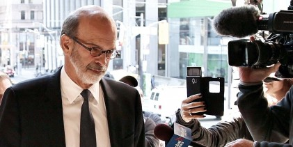 Ontario Premier Kathleen Wynne : David Livingston, who was chief of staff to former Ontario premier Dalton McGuinty, arrives with his wife for closing arguments at court in Toronto on …